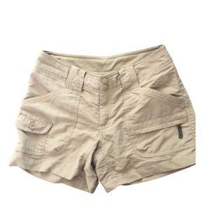 The north face hiking khaki camping shorts